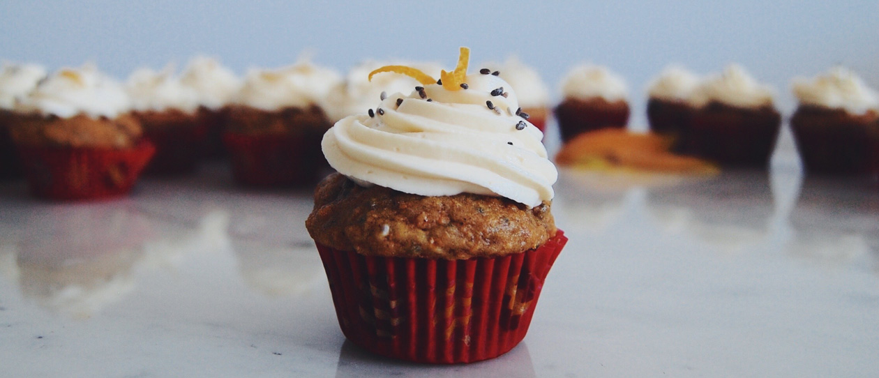 RECIPE: Carrot & chia cupcakes