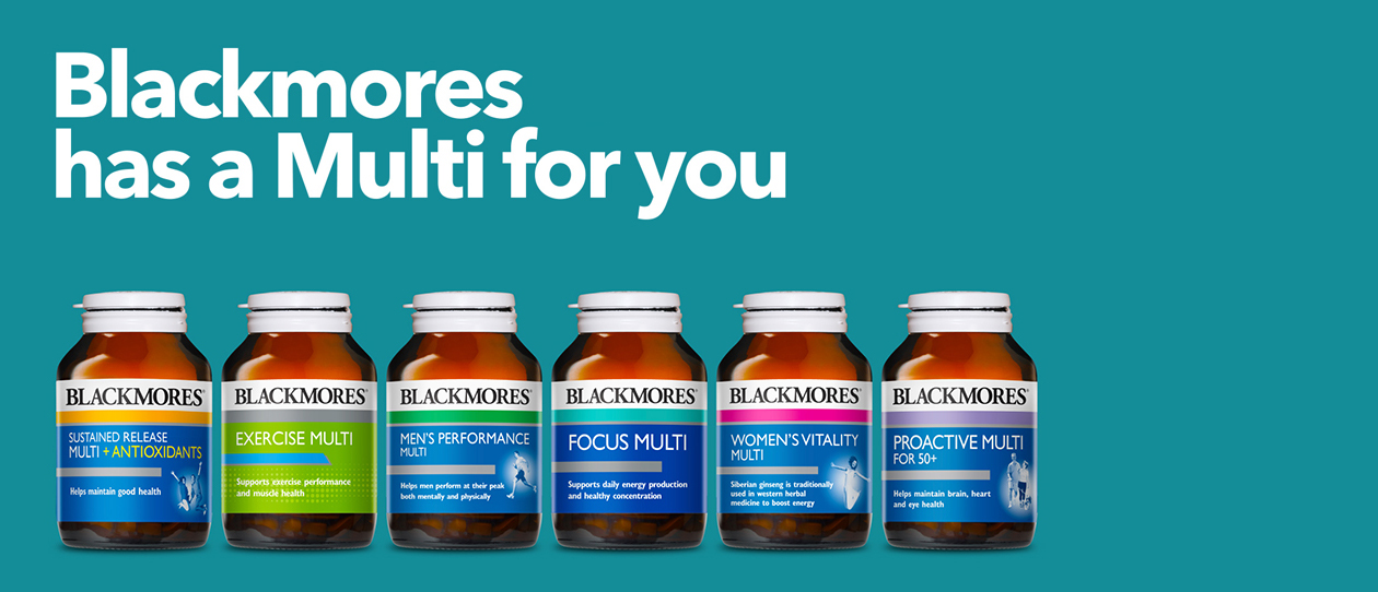 Blackmores Choose the right multivitamin for you